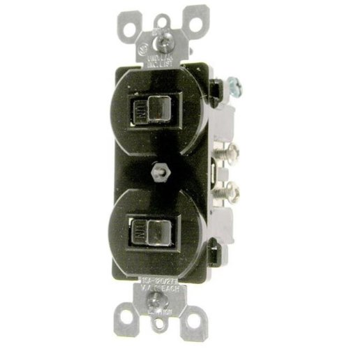 Leviton Brown Commercial Grade 3-Way AC Combination Switch Toggle  030-5241-0