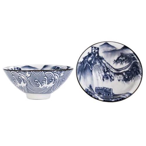 Chinese Style Ceramics Kung Fu Tea Set Tea Cup, 2.36 OZ, 2 Pieces [R]