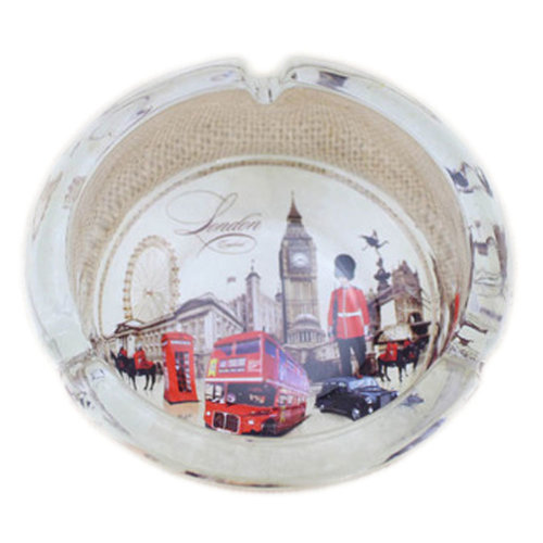 Creative Gifts Men's British Style Crystal Glass Ashtray[London Scenery E]