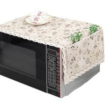 Pastoral Style Flowers Microwave Oven Dustproof Cover Dust Cover with Pockets