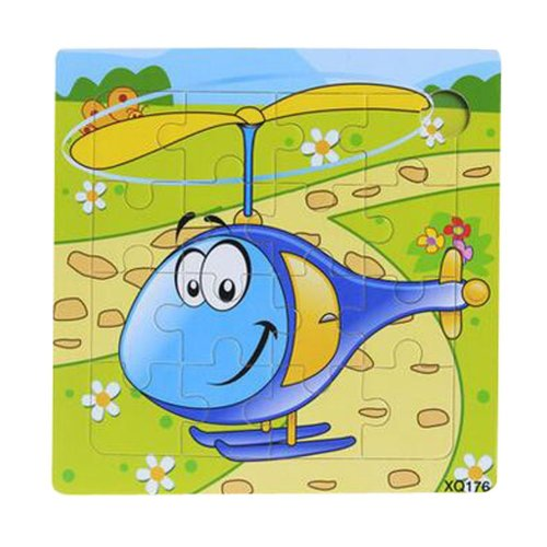2 Pcs Wooden Puzzle Puzzles Helicopter Children Puzzles