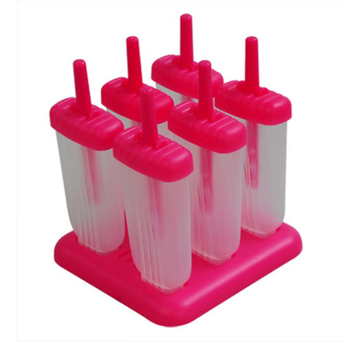 Big Ice Pop Maker/Molds 15*5.5*2 CM Red-Set Of 6