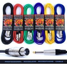 "Premium Female XLR to 1/4"" Jack (6.35mm) Microphone Cable: Audio Lead/Mic Cables"