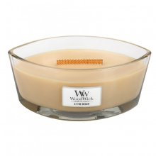 WoodWick 16oz HearthWick Jar Candle With Wooden Lid At The Beach