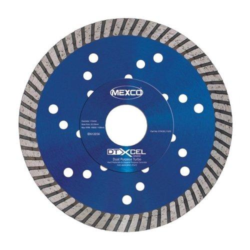 Mexco DTXCEL 115mm Dual Purpose Turbo Diamond Blade