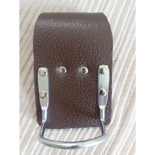 Brown Leather Steel Hammer Holder Steel Saddle for Scafffolding Tool Belt