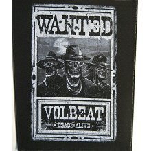 Volbeat Wanted Backpatch Standard - Back Patch Official Metal Rock Band Merch -  volbeat wanted back patch official metal rock band merch new