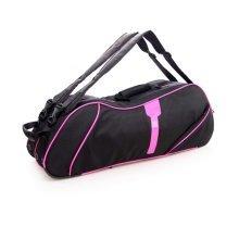 2 Shoulder Straps Waterproof And Dustproof Racket Bag 6 Racquet Bag,Pink