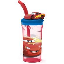 Boyz Toys St397 3d Figurine Tumbler - Cars, Red - Kids Character Drinking Water -  kids 3d figurine character drinking tumbler water bottle
