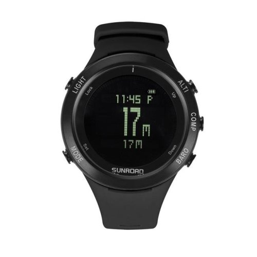 Sunroad FR922B Black Unisex Waterproof Digital Sports Heart Rate Watch - Black