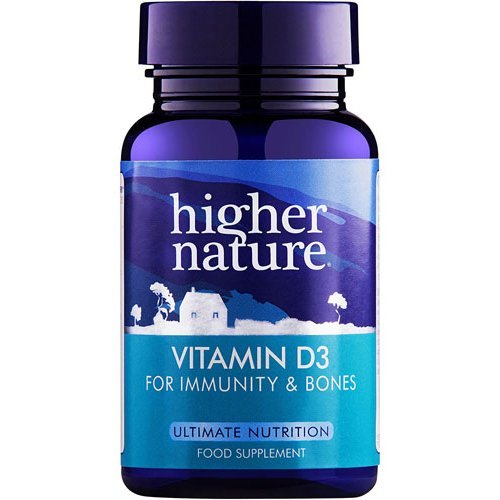 Higher Nature  Vitamin D3 500iu Capsules 60s
