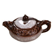 Creative Ice-crack Small Teapot Exquisite Tea Kettle-White