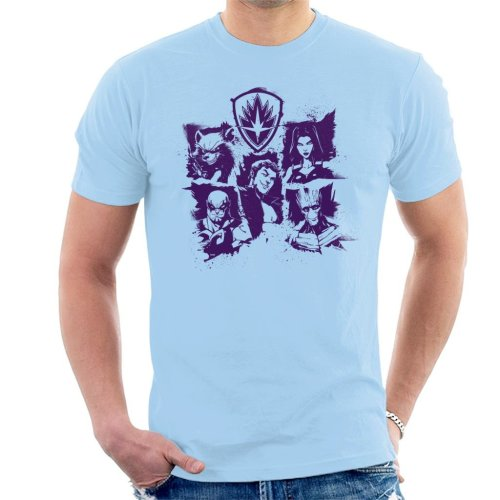 Marvel Guardians Of The Galaxy Smiles Paint Men's T-Shirt