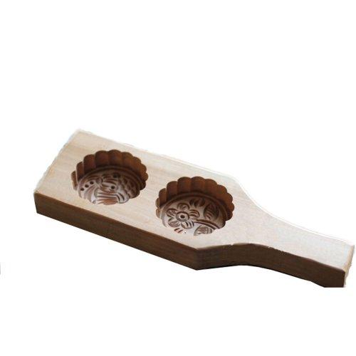Woody Exquisite Carving Baking Molds Dessert Baking Cutter-E