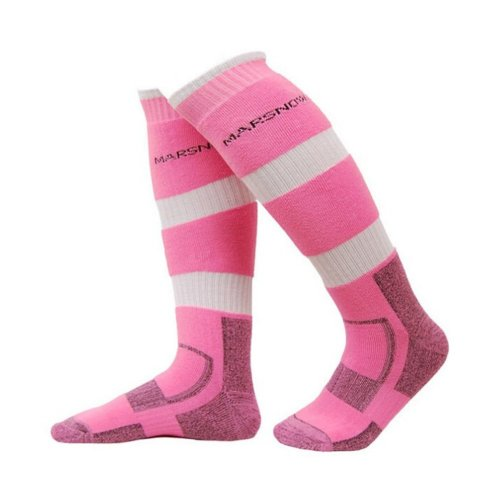 [One Size] Outdoor Women Skiing Cycling Socks PINK