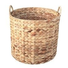 Medium Water Hyacinth Round Storage Basket
