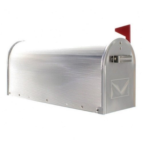American Usa Stylish Aluminium Mailbox Red Flag Rottner