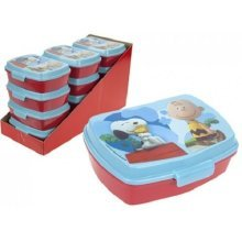 Peanuts Snoopy Charlie Brown Sandwich Lunch Snack Box Ideal For School - Free -  peanuts snoopy charlie brown sandwich box free sports bottle