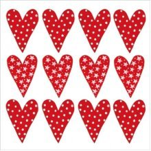 4 x Paper Napkins - Lots of love - Ideal for Decoupage / Napkin Art
