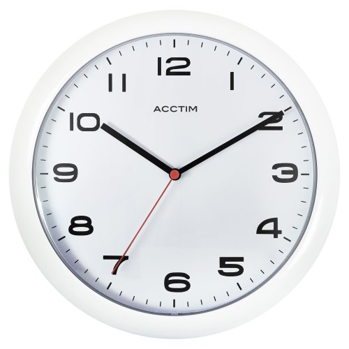 Acctim 92/301 Aylesbury Wall Clock, White