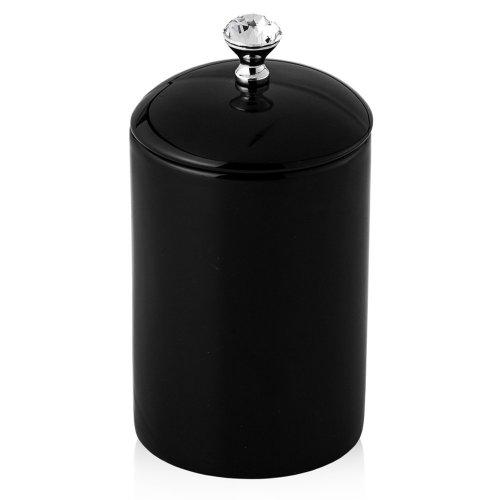 Porcelain Storage Jar Black POIX