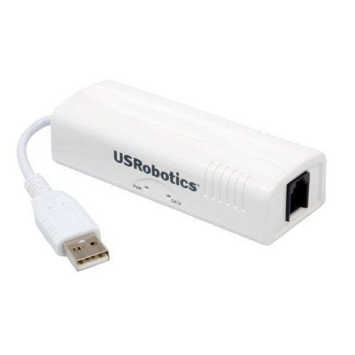 U S Robotics USR5637 56K USB Controller Dial Up External Fax Modem with Voice