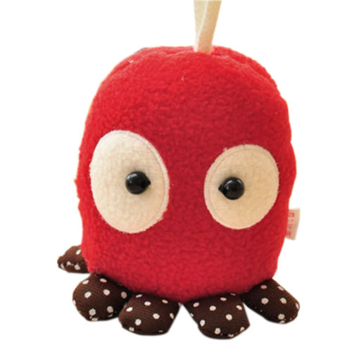 Cute Cartoon Red Octopus Portable Plush Key Case/Key Cover/Pulling Key Chains