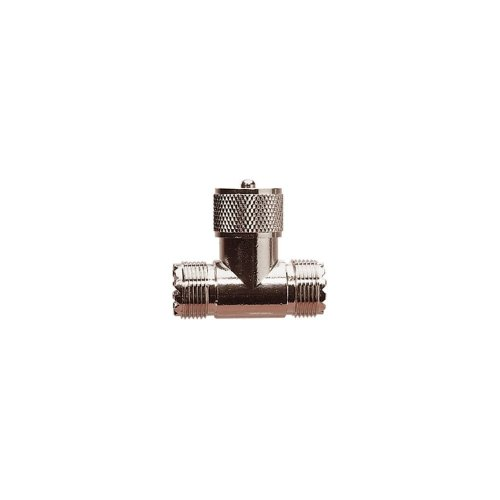 UHF T Connector (Female/Male/Female)
