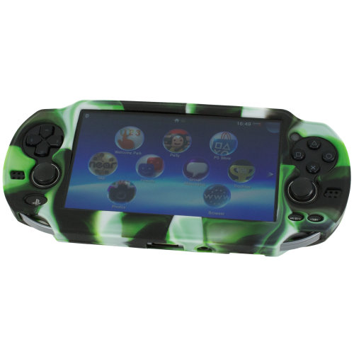 Cover for PS Vita 1000 Sony silicone skin protective grip case ZedLabz camo