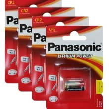 4 x Panasonic CR2 3V Lithium Photo Battery DLCR2 KCR2 CR17355 Camera