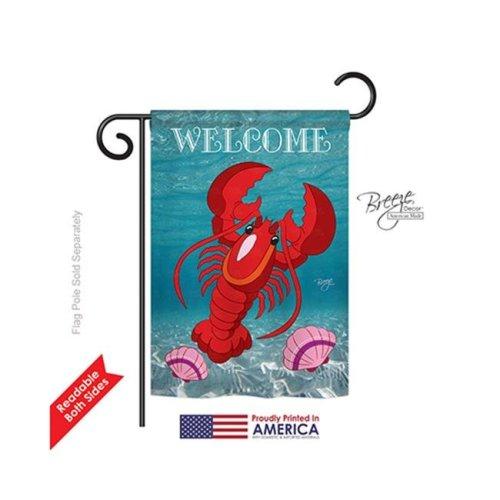 Breeze Decor 57026 Beach & Nautical Lobster 2-Sided Impression Garden Flag - 13 x 18.5 in.