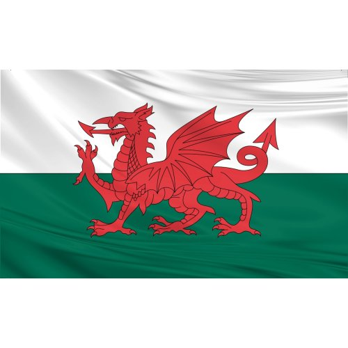 Wales Flag 5ft x 3ft Polyester Fabric Country National
