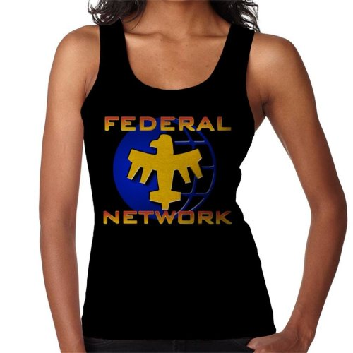 Starship Troopers Federal Network Gold Blue Logo Women's Vest