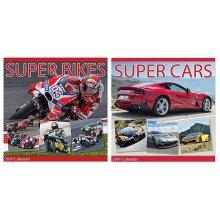 2019 Super Cars Bikes Square Wall Calendar Sports Performance Racing Motorbikes