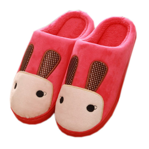 Warm & Cozy Womens Indoor Plush House Slipper, Red