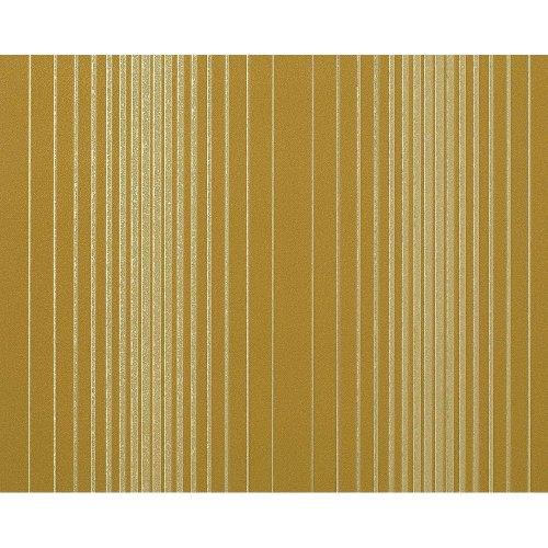 EDEM 973-38 XXL non-woven wallpaper luxury stripes olive-green gold | 10.65 sqm