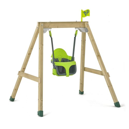 TP Toys Forest Acorn Growable Swing Set With TP Quadpod Build Frame From Low To Full Height Ages 6 Months-10 Years