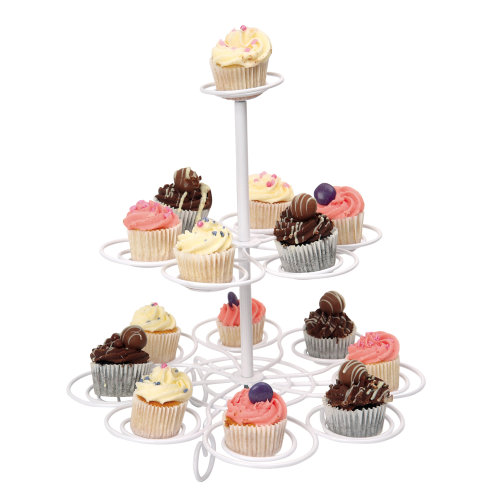 Swift 2 Tier White Cup Cake Tree, holds 15