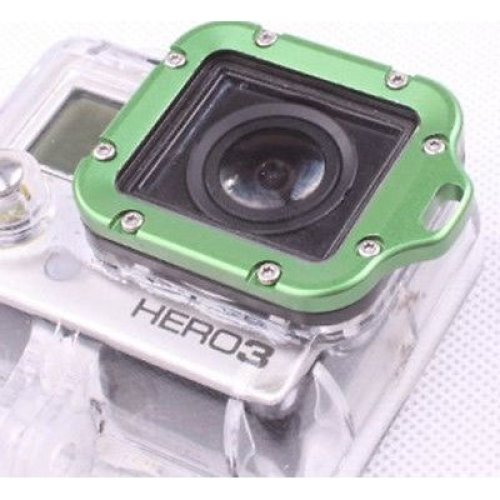 Lanyard Ring Mount  For Gopro Go Pro Hd Hero 3 Green Aluminium Uk Fast Delivery