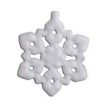 Polystyrene Shape - Snowflake - 7.5cm - Great for Christmas Decorations