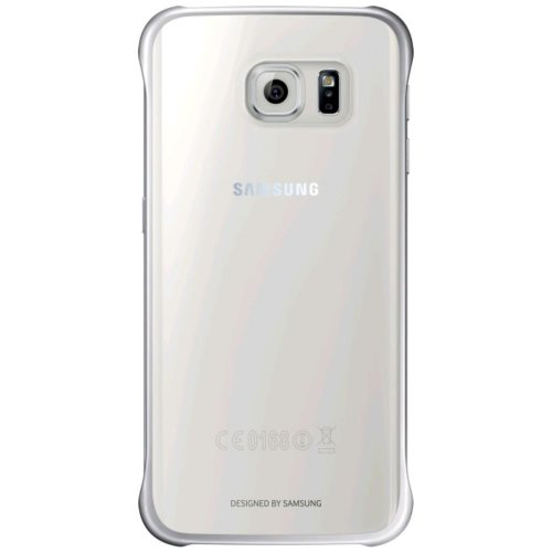 Metallic Silver/Clear Cover Shell for Galaxy S6 Edge G925F Samsung Protective Case