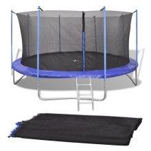 vidaXL Safety Net PE Black for 3.05 m Round Trampoline