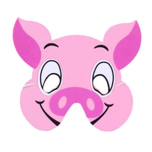 10 PCS Children's Performance Props Children animal masks,Pig