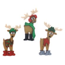 Where's The Sleigh ? - Novelty Craft Buttons & Embellishments by Dress It Up