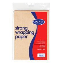 County Stationery 75 X 100cm Brown Wrapping Paper - 2 Sheets -  county stationery 75 x 100cm brown wrapping paper 2 sheets