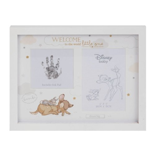 Disney Magical Beginnings Bambi Hand Print and Photo Frame