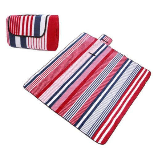 Outdoor Picnic Mat - Widening Thick Waterproof Camping Beach Cushion--Red Blue