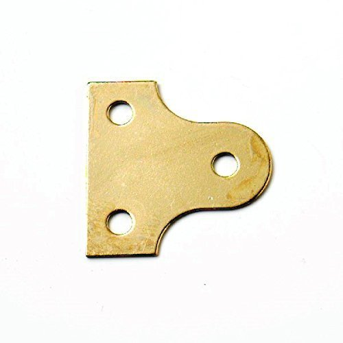 Bulk Hardware BH03553 EB 25mm (1 inch) Round Glass Picture Hanging Plate Brass Plated - Pack Of 25