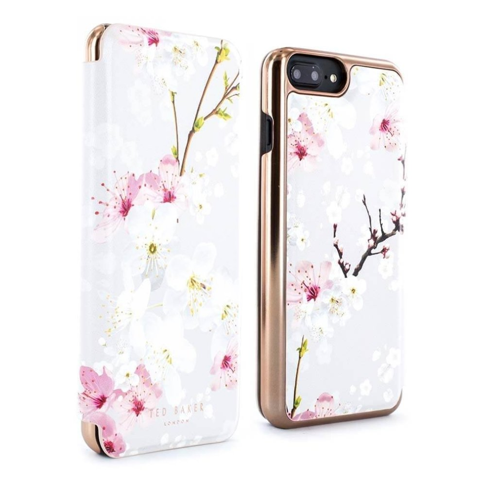 best service 3dc60 2c7df Ted Baker Official SS17 Fashion Mirror Folio Case for iPhone 8 Plus / 7  Plus, Protective Wallet iPhone 8 Plus / 7 Plus Cover for Professional  Women...