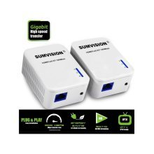 Sumvision Powerline HomePlug Kit | 1000Mbps Gigabit Ethernet Adaptor Set